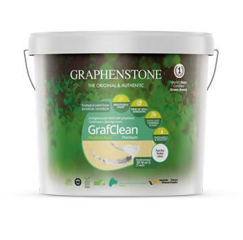 0.75L Colour Washable Natural Interior Wall Paint– Graphenstone Grafclean Premium - Just Think Eco