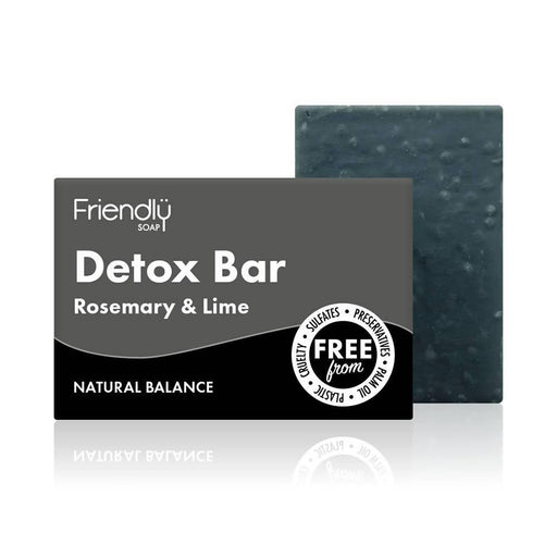 Friendly Soap - Detox Bar with Activated Charcoal 95g - Just Think Eco