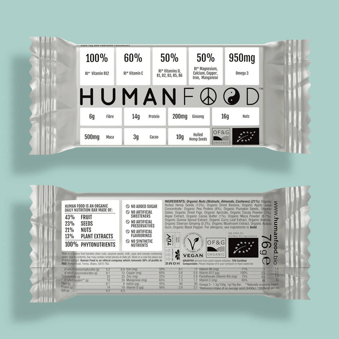 Five pack of Green Organic Spirulina Human Food nutrient bar