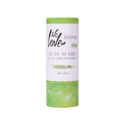 We Love the Planet - Luscious Lime Natural Deodorant Stick 48g (Vegan) - Just Think Eco