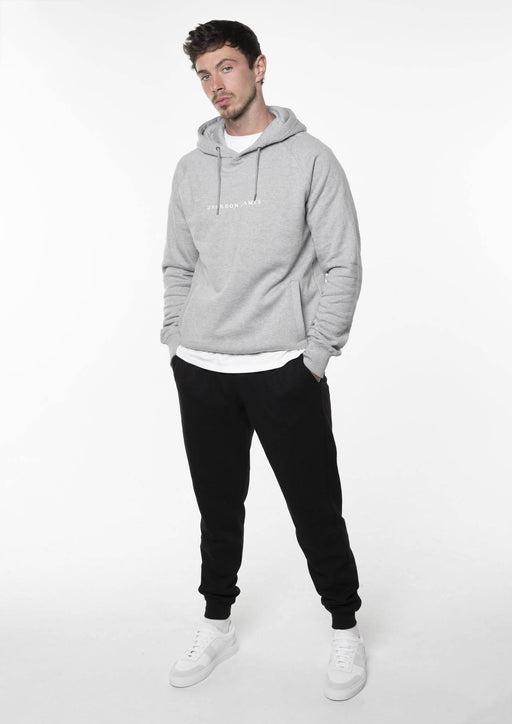 Men's Core Hoodie - Light Grey/White | Jackson James Clothing - Just Think Eco