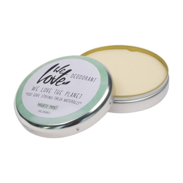 We Love the Planet - Mighty Mint Cream Deodorant Tin 48g - Just Think Eco