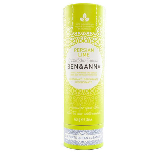 Ben & Anna Natural Deodorant Stick - Persian Lime 60g - Just Think Eco