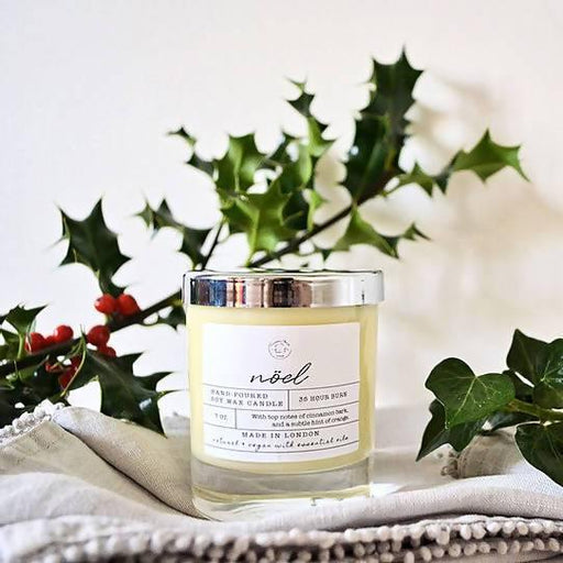 Natural Soy Candle: Noël | Conscious House London - Just Think Eco