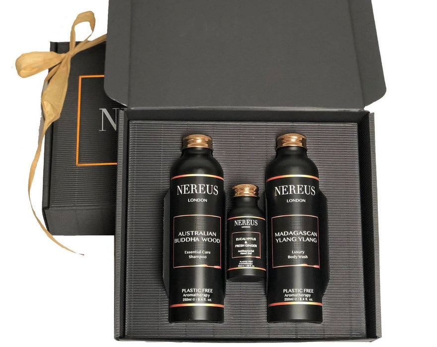 Luxury & Sustainable Plastic Free Hair and Body Christmas Gift Set