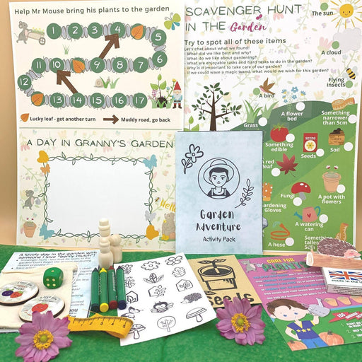 Gardening Gift Kids, Eco Friendly Nature Activity Pack Xmas Stocking Filler, Plastic Free Christmas Letterbox, Children Scavenger Hunt Game - Just Think Eco