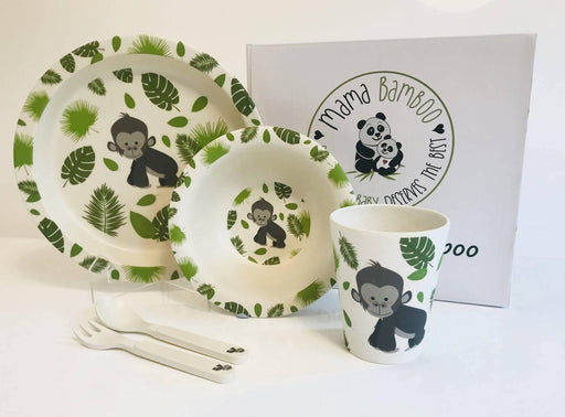 Gonza the Gorilla Dinner Set| Mama Bamboo - Just Think Eco