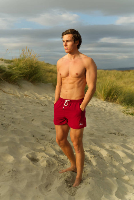 The Humboldt | Sustainable Swim Shorts - Red