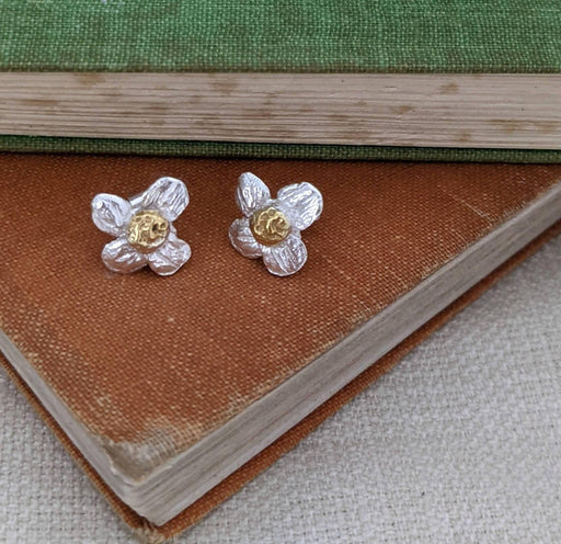 Apple Blossom Earrings 100% Recycled 925 Sterling Silver - Just Think Eco