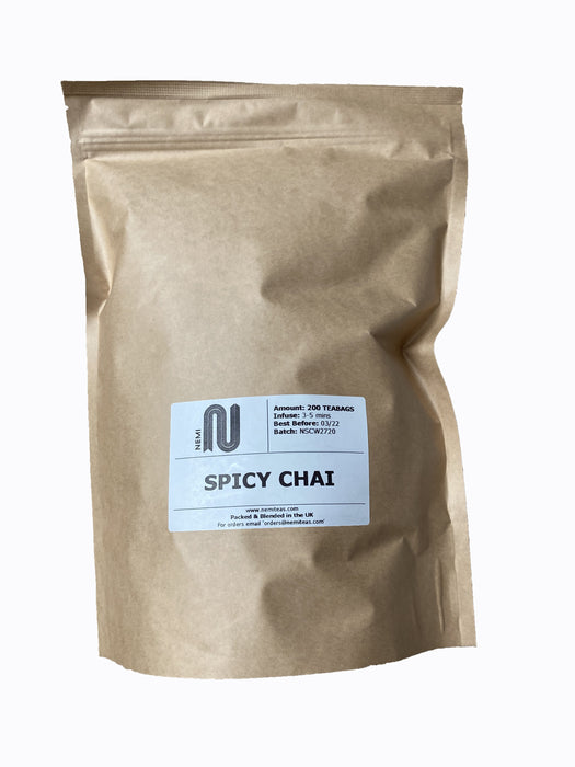 Spicy Chai Tea 200 Bags - Compostable tea bags, ethically made Spicy Chai Tea