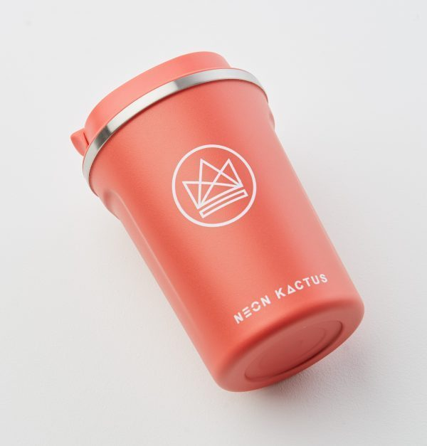 Neon Kactus Red Reusable Stainless steal Coffee Cup 12oz