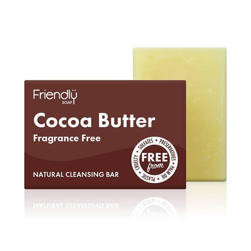 Friendly Soap - Cocoa Butter Fragrance Free Soap Bar 95g - Just Think Eco