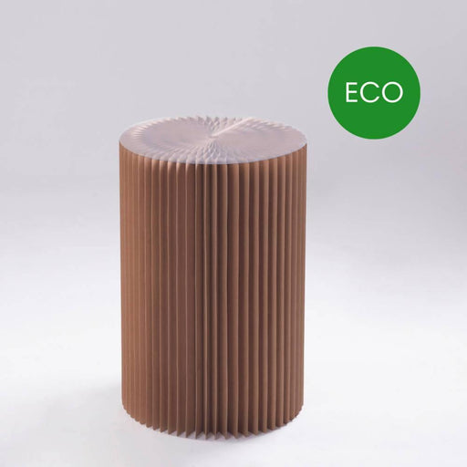 Foldable Circular Paper Table - Recycled | Paper Lounge - Just Think Eco