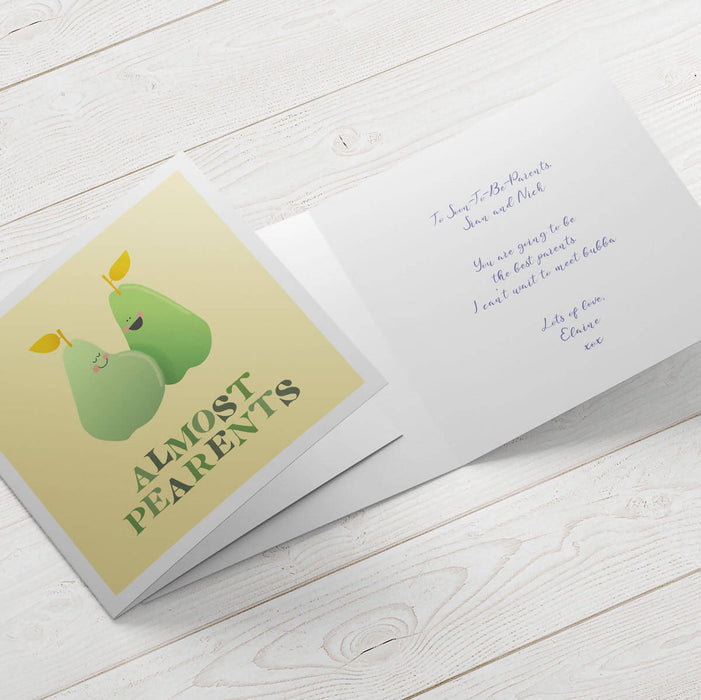 Fruta Almost Pearents Expecting card