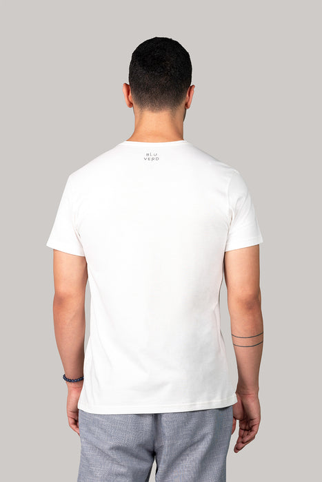 Organic and Sustainable Off White - Bluverd Male Crew Neck T shirt