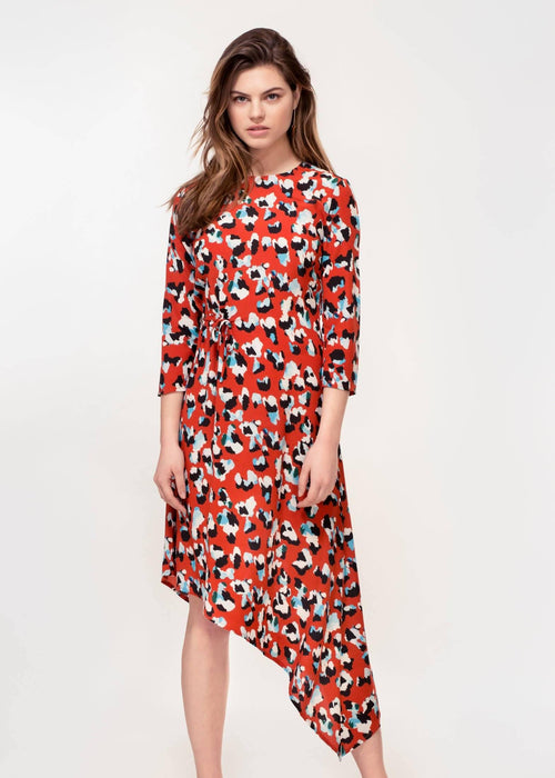 Azalea Dress In Animal Print | Made from Eco Friendly Viscose - Just Think Eco