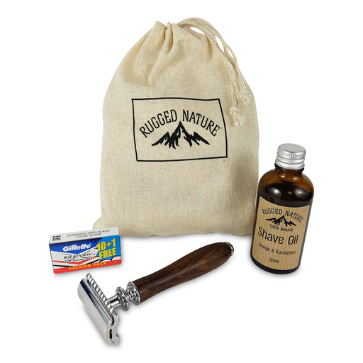 Rugged Nature Oil Shave Kit - Just Think Eco
