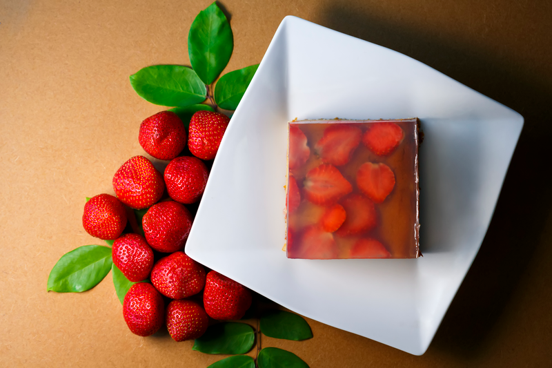 Strawberry Jelly Pudding