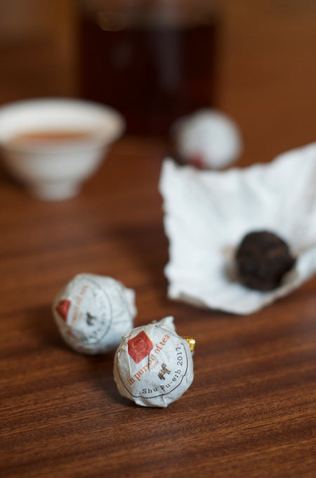 Shu Truffle Pu-erh Tea wrapped