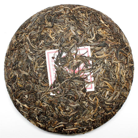 Blessed Forever Daxue Bingcha Pu-erh Tea unwrapped