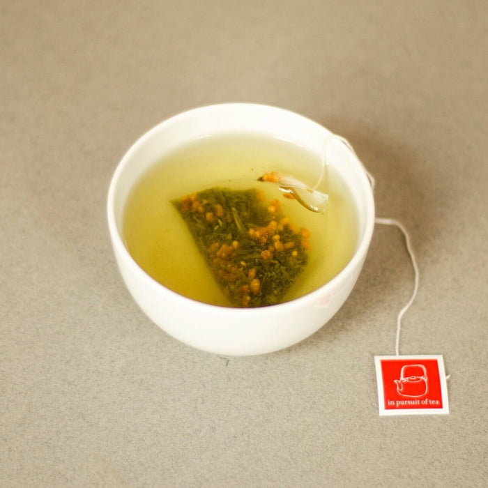 Genmaicha Teabags brewing