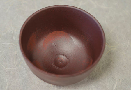 Red Clay Chawan - Matcha Bowl top