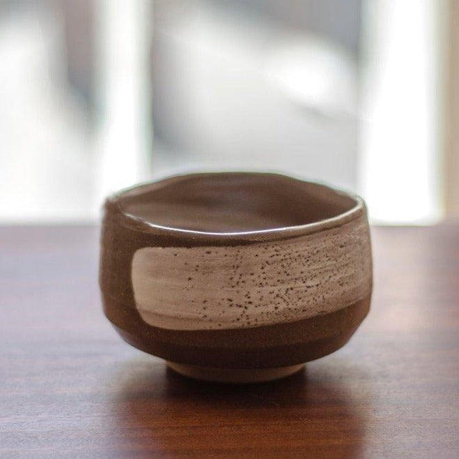 Brown Chawan matcha bowl