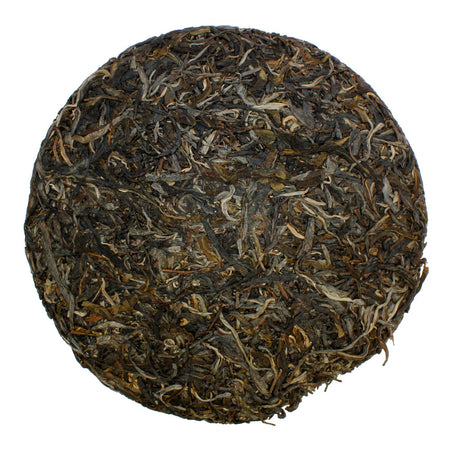 Jindamo Golden Dharma Bingcha Pu-erh Tea unwrapped