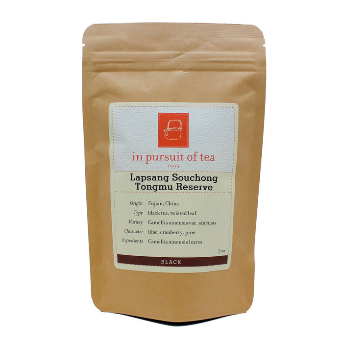 Lapsang Souchong – Tongmu Reserve Black Tea retail bag