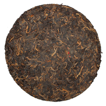Menghai Brown Bingcha Pu-erh Tea unwrapped