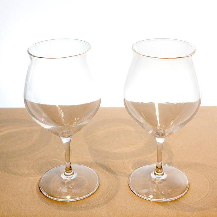 Tulip-Stem Tea Glasses, Set of Two (10 oz)
