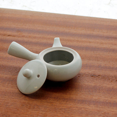 Small Kyusu - Japanese Teapot (2 oz) lid off