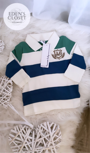 Baby Newness Striped Long Sleeve Polo