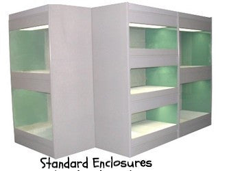 Kitten Enclosure (3 Levels) ABS Fronts