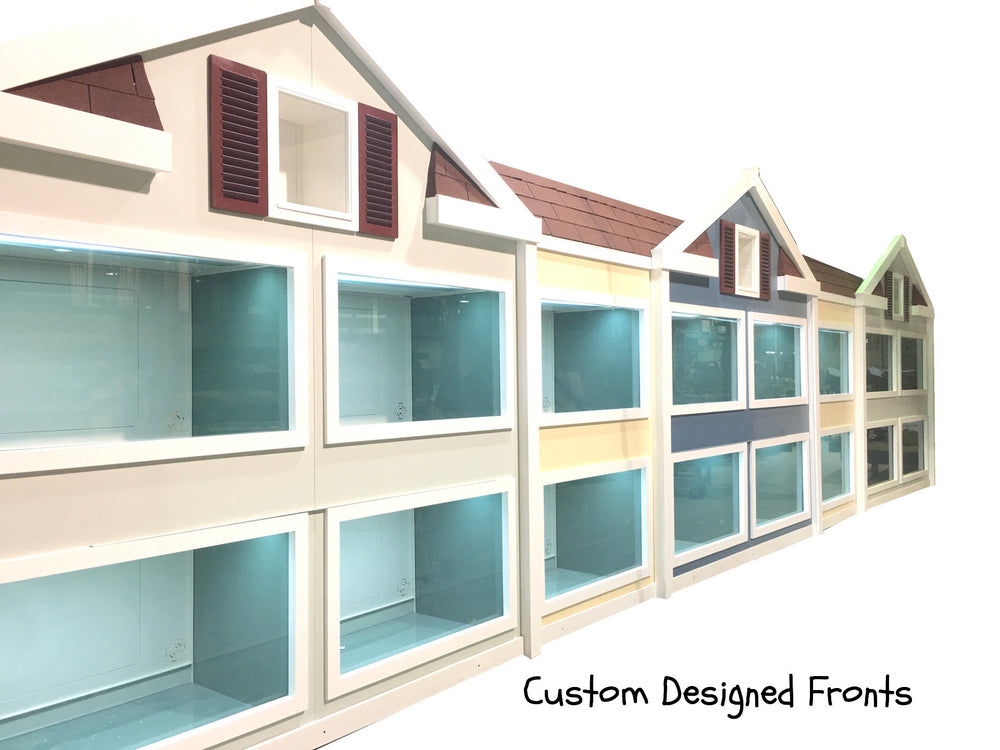 Indoor Puppy Suites Kennel Design for Dog Hotels Adoption Events Vet Holding Kennels