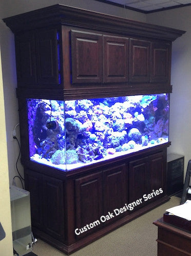 Custom Design Aquarium - Designer Trim - High Canopy - Overflows with Sump in Stand