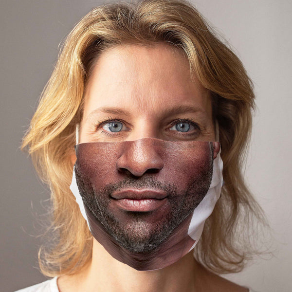 "Community Face Mask ""Dark 3-Day Beard"""