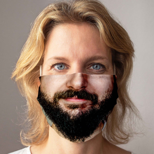 "Community Face Mask ""Full Beard"""