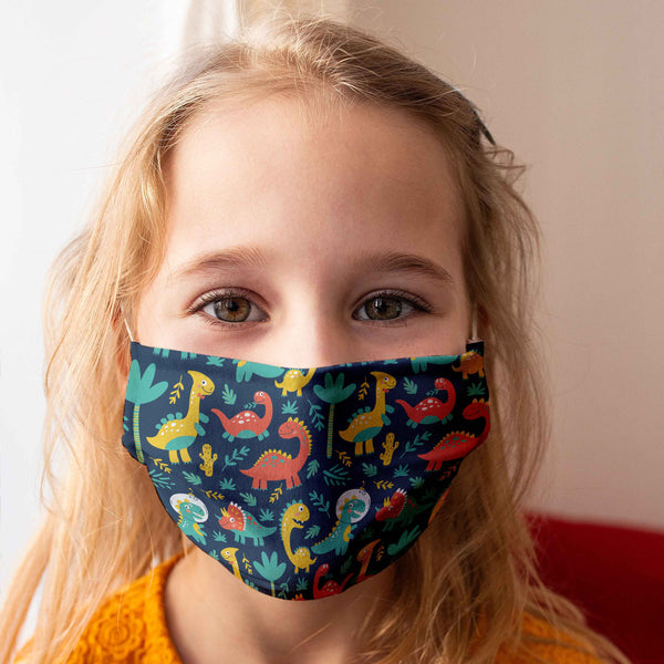 "Community Face Mask for Children ""Dinosaurs"""
