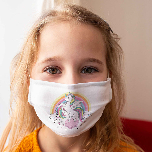 "Community Face Mask for Children ""Unicorn"""