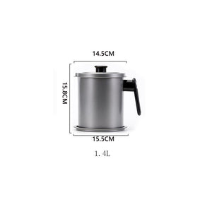 [50% DISKON 🎊] Stainless Steel Oil Filter Pot 👩‍🍳👨‍🍳