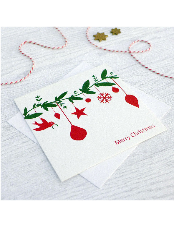 Pack of 5 Christmas Toy Branch Cards