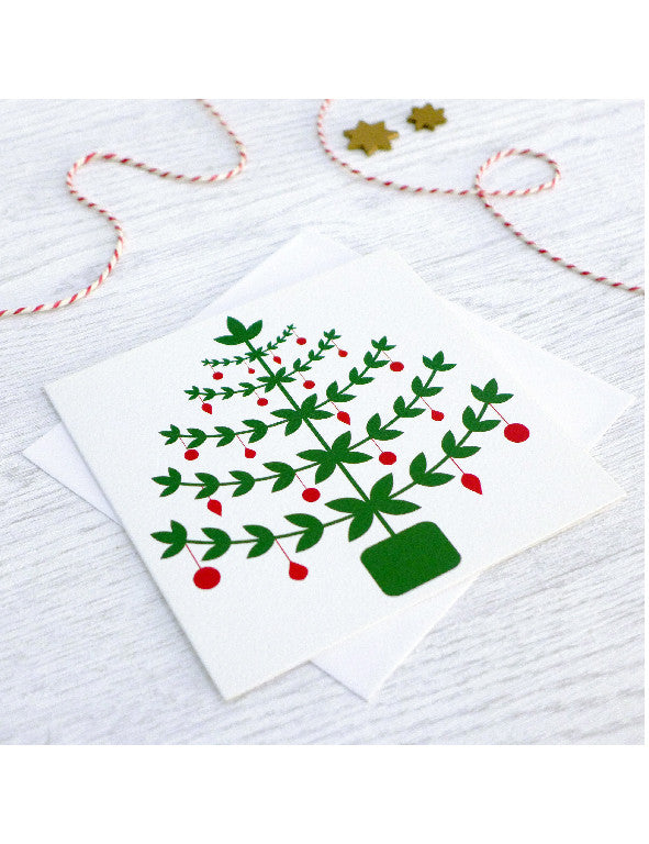 Pack of 5 Scandi Christmas Tree Cards