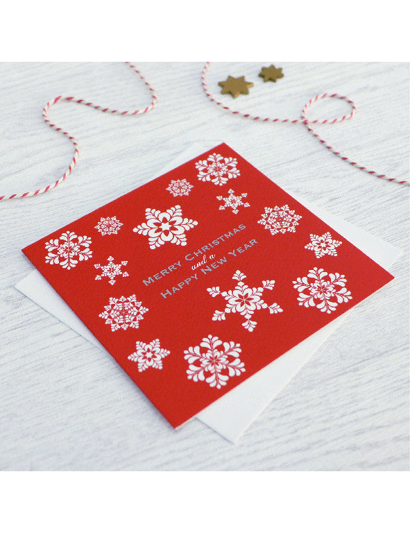 Pack of 5 Snowflake Christmas Cards