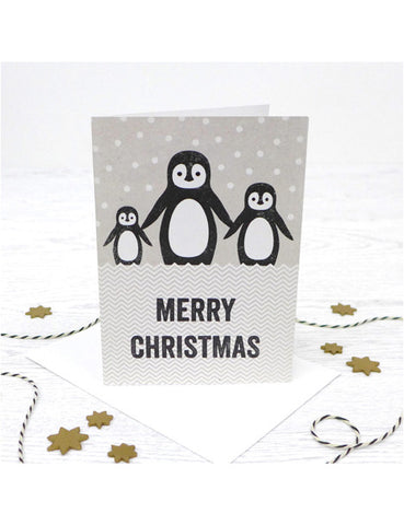 Christmas Penguin Trio Card