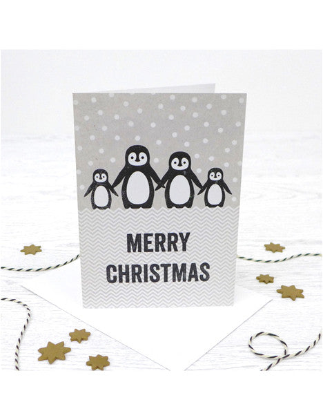 Christmas Penguin Family Card