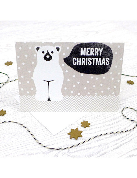 Pack of 5 Merry Christmas Polar Bear Cards