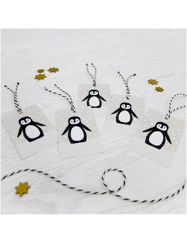 Pack of 5 Penguin Christmas Tags