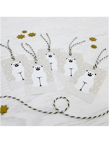 Pack of 5 Reindde Christmas Tags