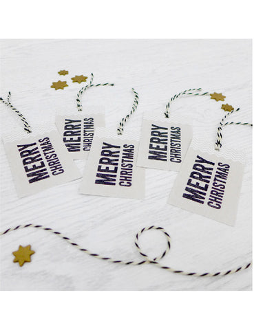 Pack of 5 Merry Christmas Tags
